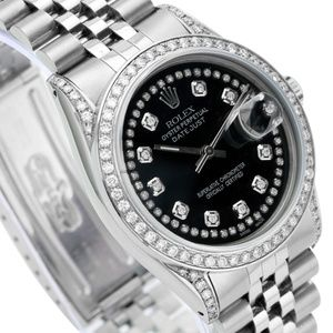 Rolex Accessories - Rolex Unisex Datejust Diamond Dial Lugs Bezel 36mm